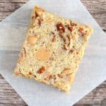 I love making these peanut butter chip squares for potlucks. They are always devoured!