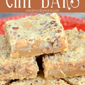 peanut butter chip bars Pinterest Pin