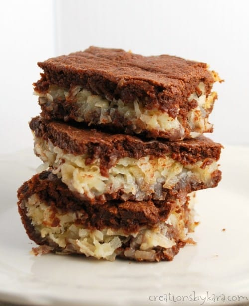 These Coconut Macaroon Brownies are decadent and delicious down to the last bite!