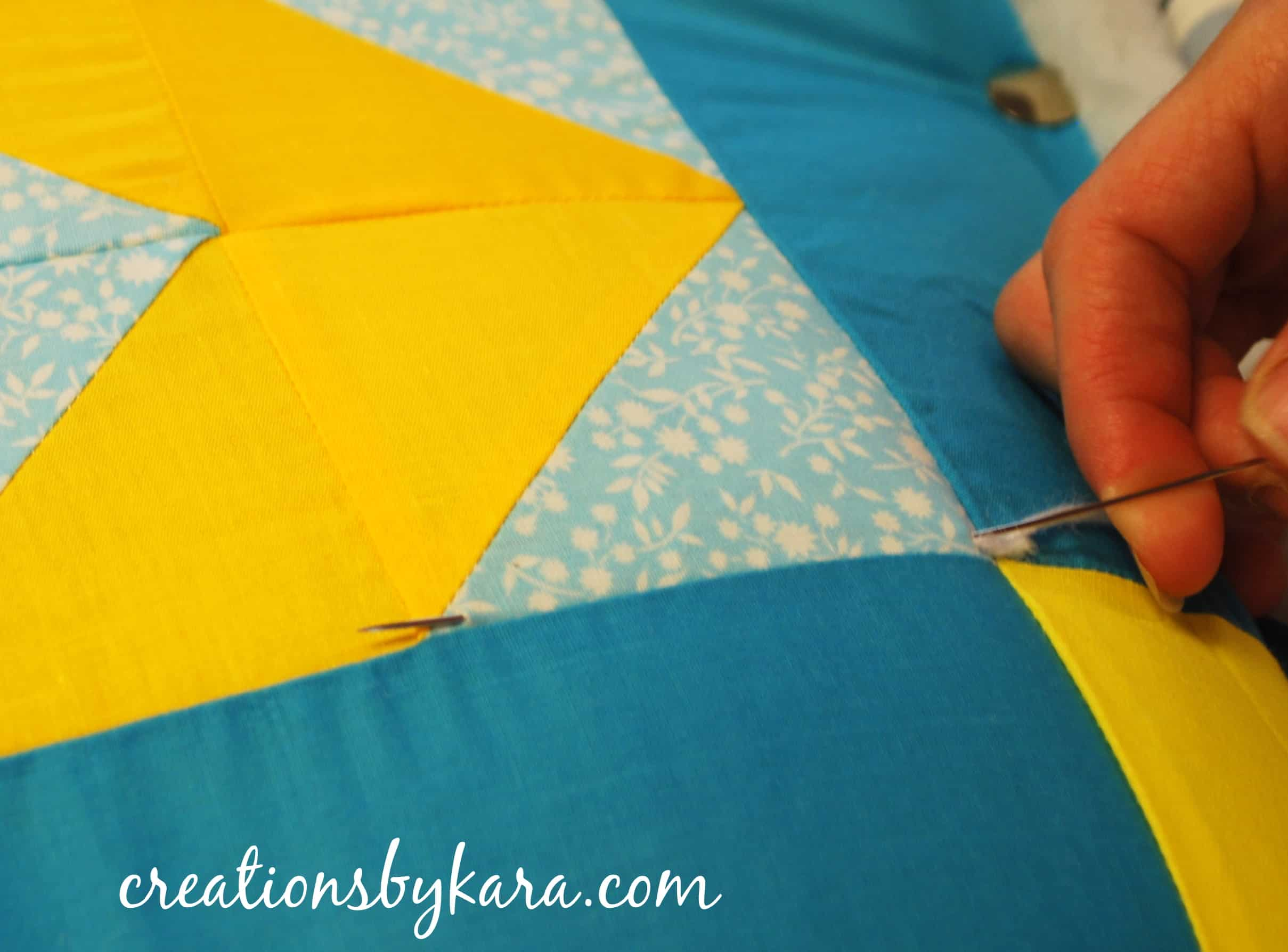 Inside Out Tied Quilt Tutorial : quilting with yarn - Adamdwight.com