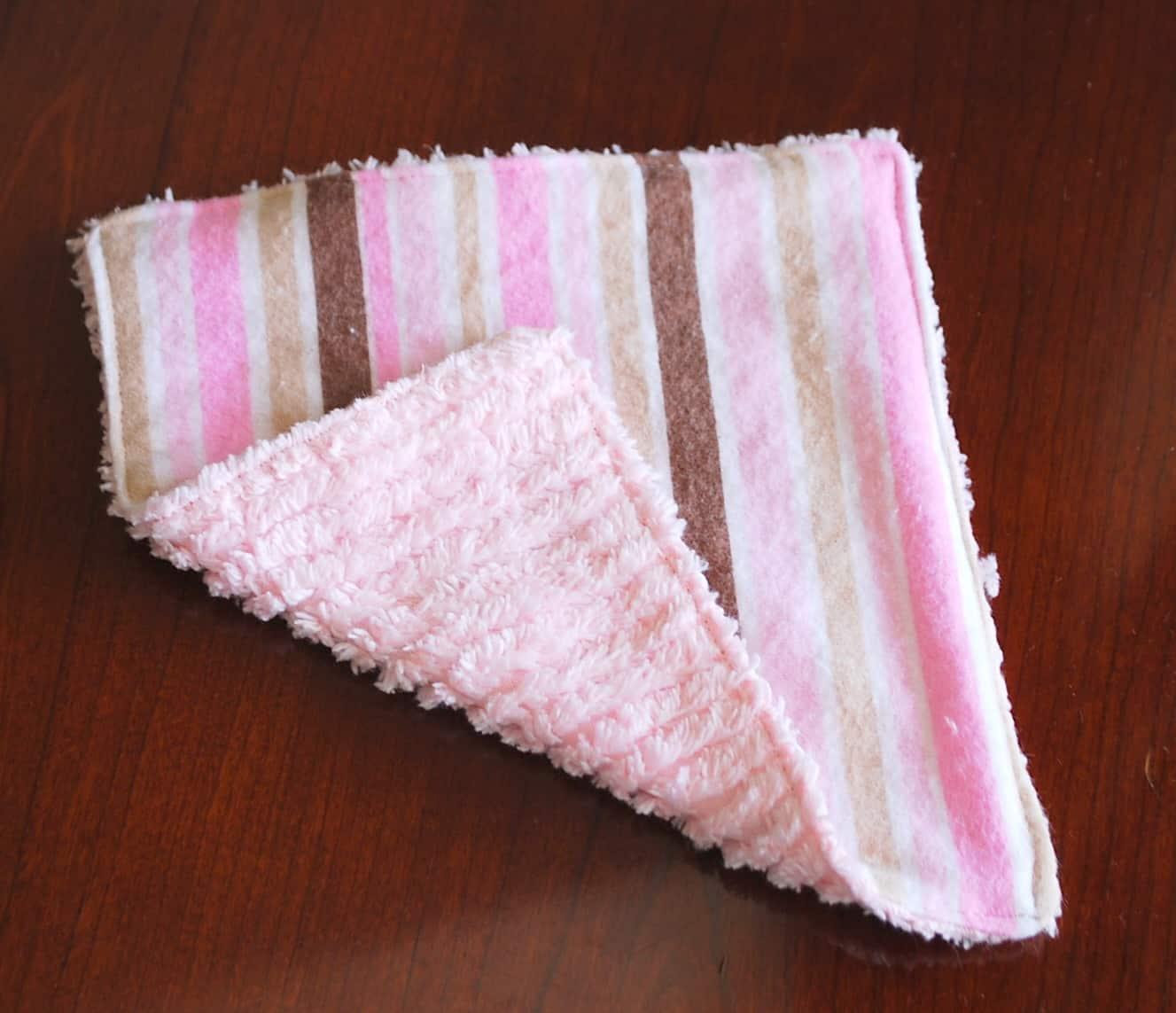 Wash Cloths As Burp Cloths: Baby Washcloth Tutorial
