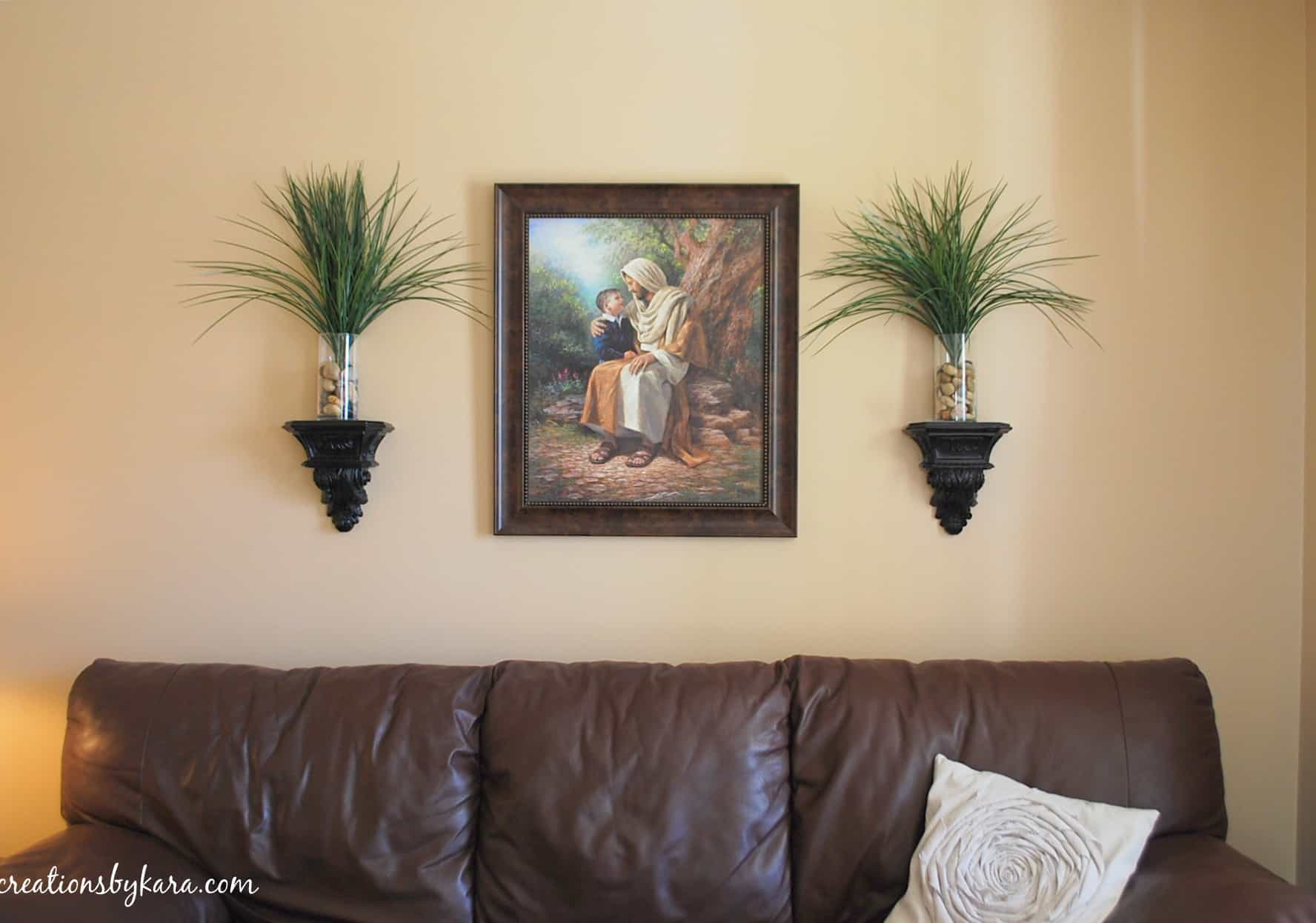 How to decorate a wall on the cheap for Living room wall decor