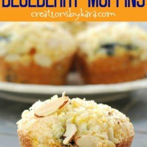 sugar crusted orange blueberry muffins