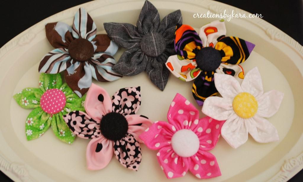 fabric flower-hair clip-tutorial