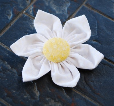 Fabric flower hair clip thats it mightylinksfo