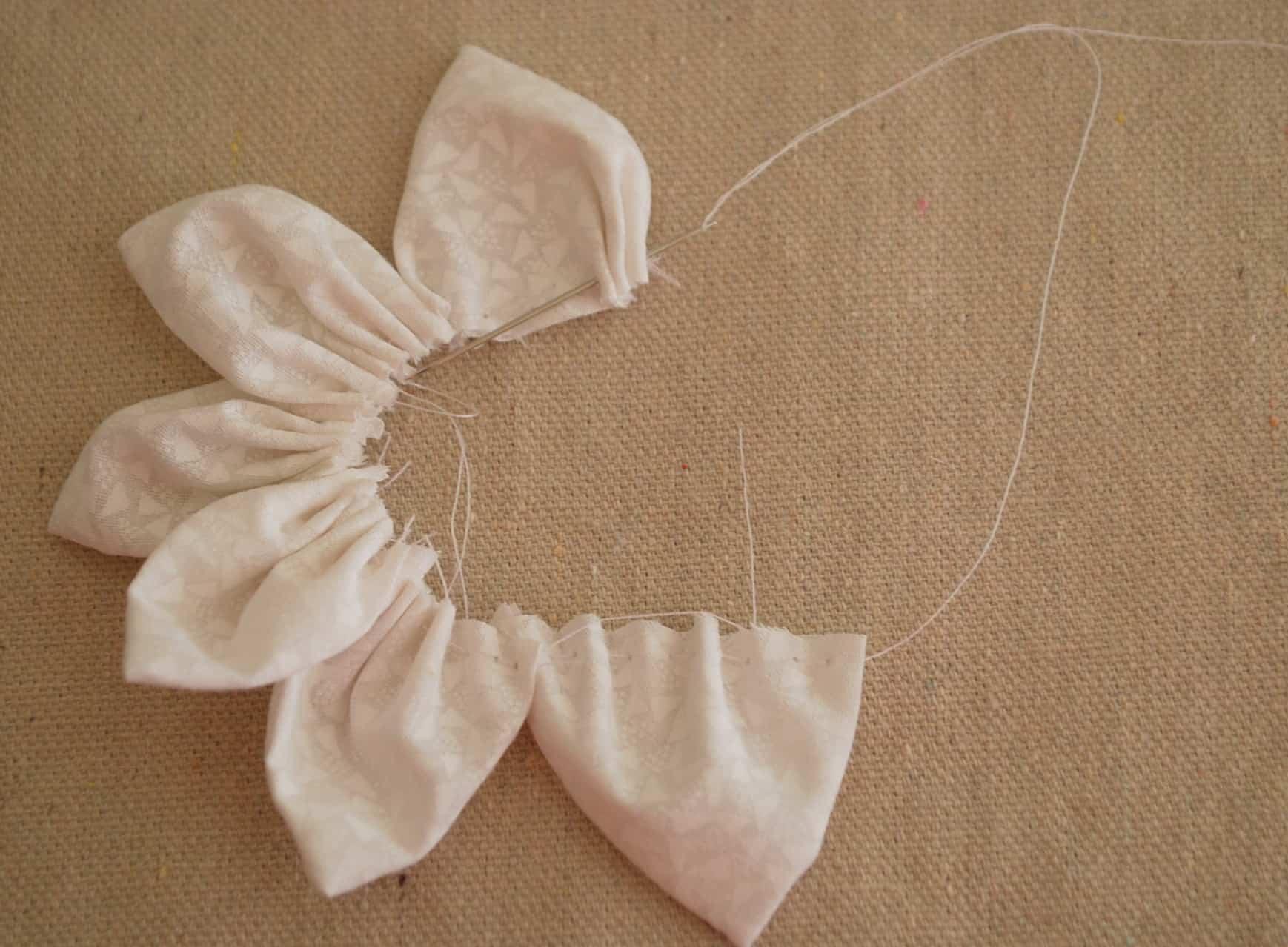 fabric flower tutorial 017 Creations by Kara