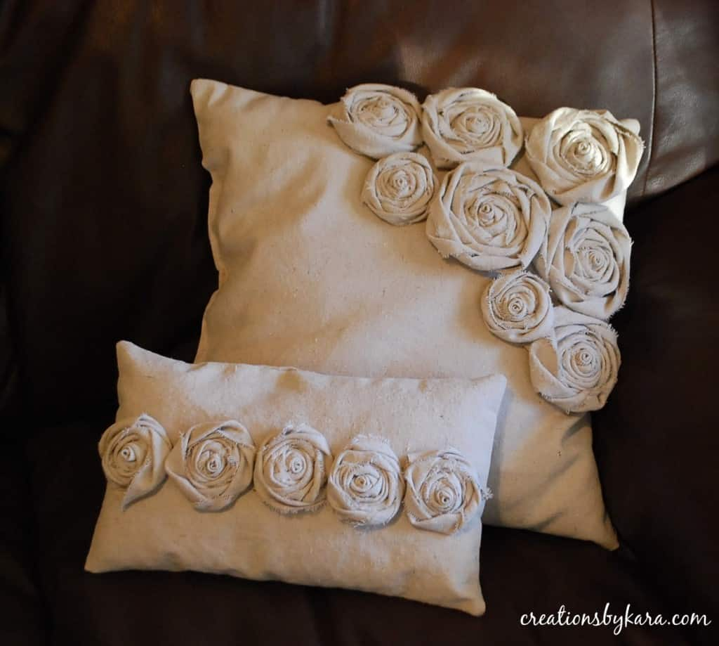 Rosette Decorative Pillow : Rosette Pillows