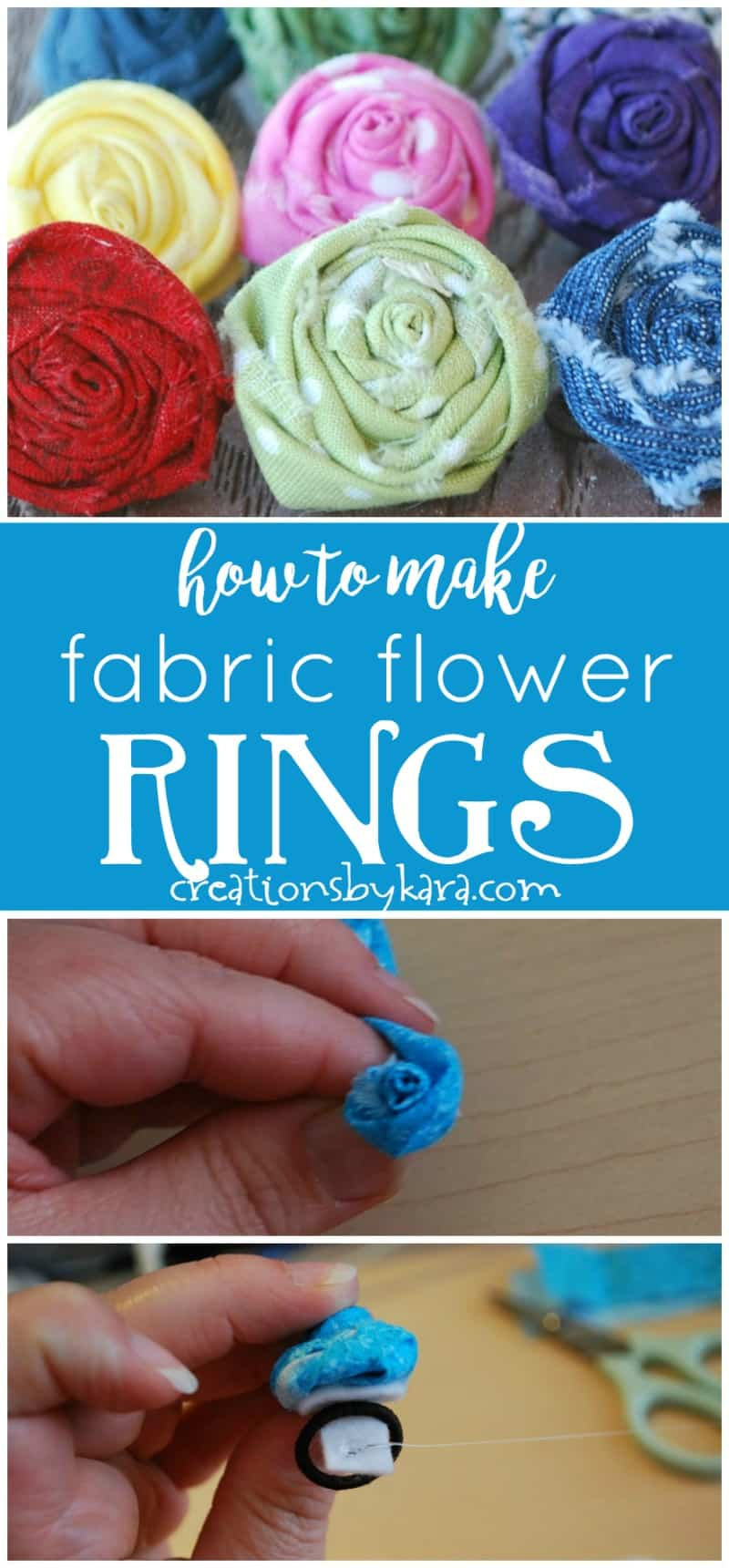 How to make Fabric Flower Rings