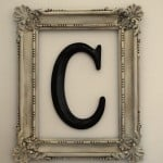Framed Monogram {DIY Decorating}