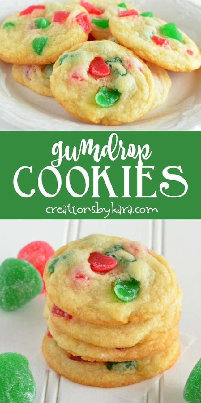 gumdrop cookies recipe collage
