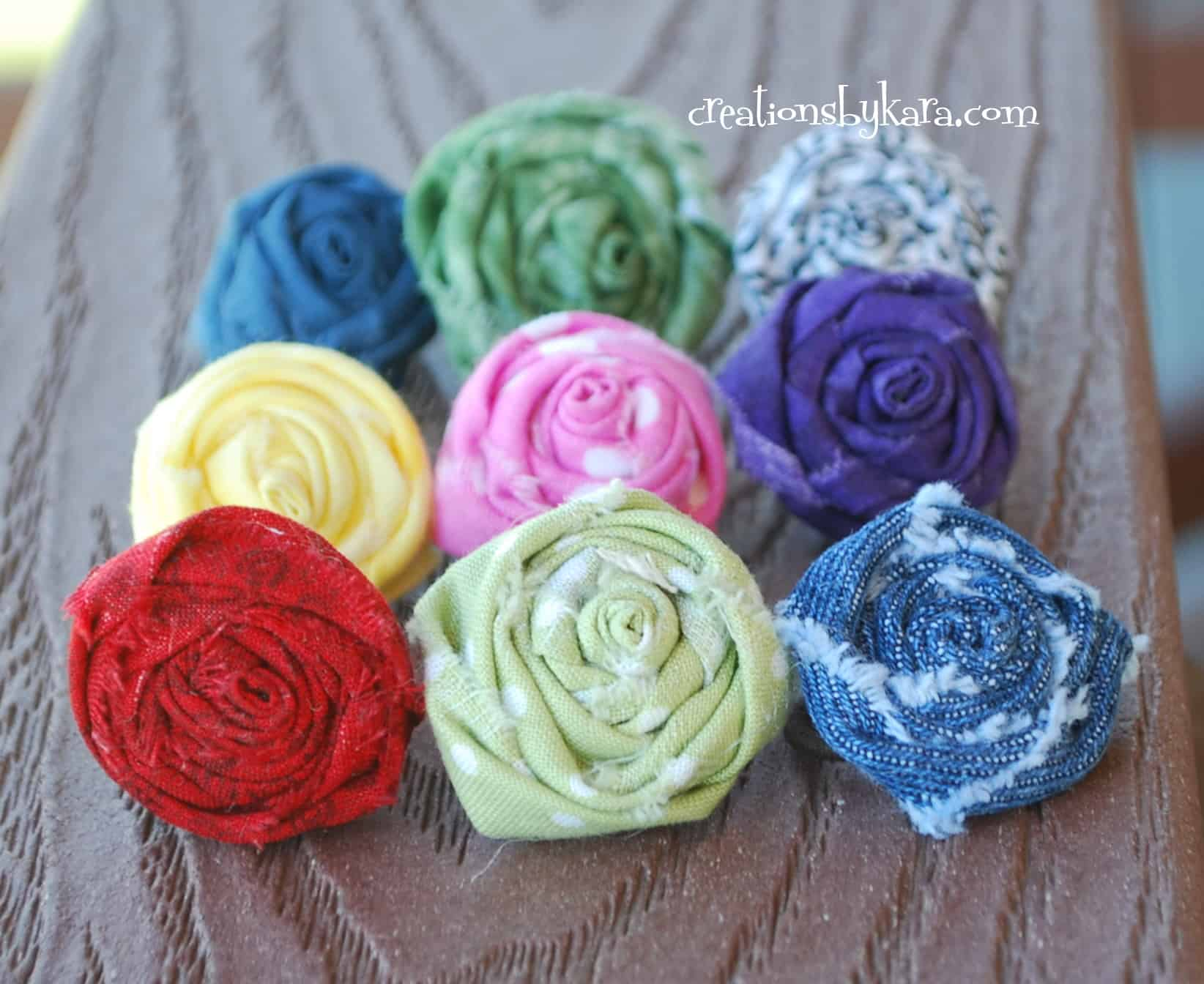 Homemade Gifts Fabric Flower Rings Stacked Felt Tutorial ...