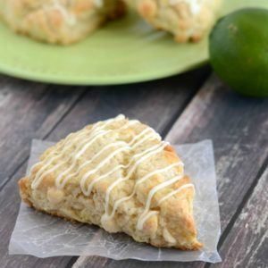 white chocolate lime scones recipe title photo