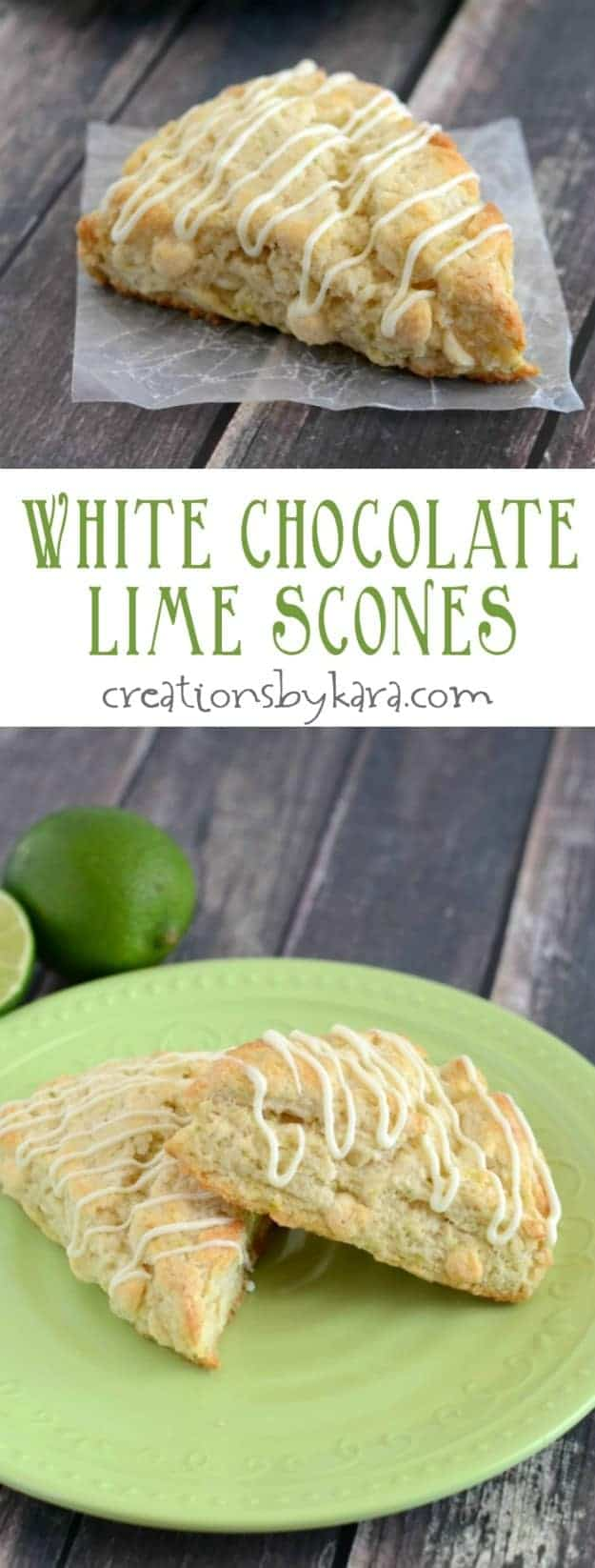 White Chocolate Lime Scones- soft, tender, and packed with flavor, they are sure to become a favorite!