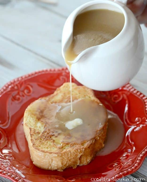 Absolutely delicious caramel buttermilk syrup. Serve it with french toast, pancakes, or waffles. Amazing syrup!