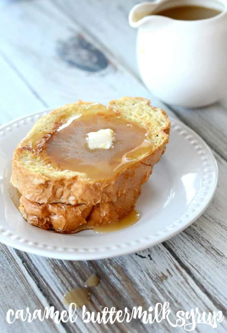 Buttermilk caramel syrup may be the best thing that has ever happened to breakfast. #buttermilksyrup #caramelbuttermilksyrup