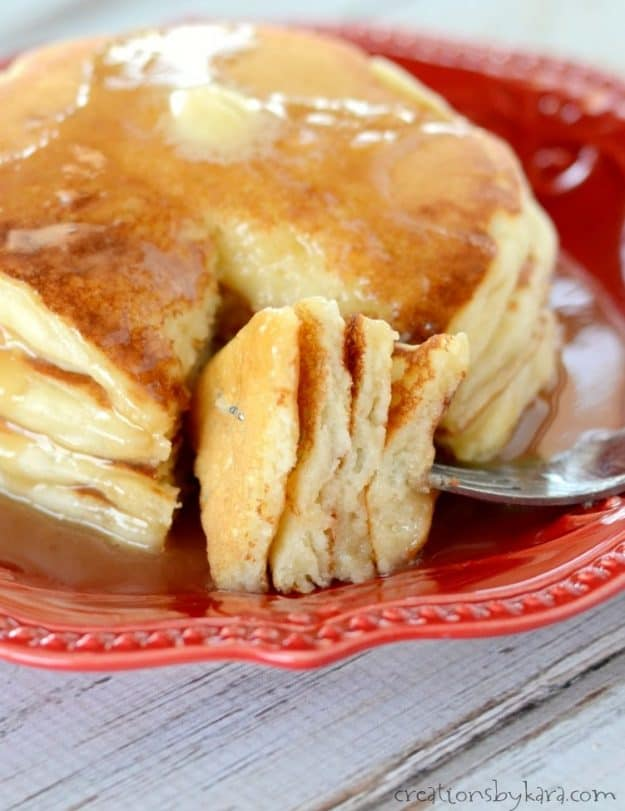 Every bite of these homemade pancakes is out of this world!