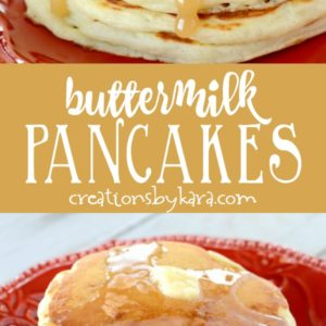 homemade buttermilk pancakes collage