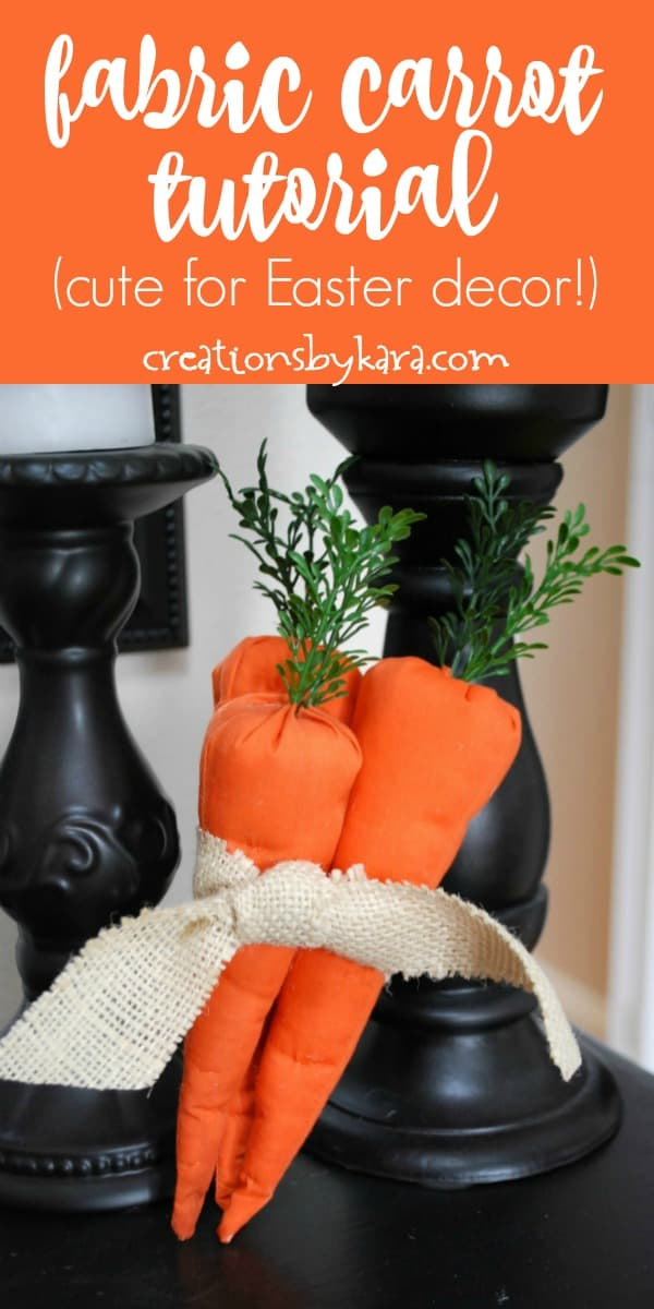 fabric carrot tutorial collage