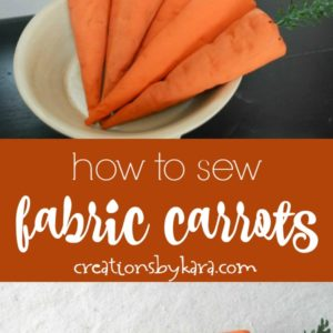 how to sew fabric carrots photo collage
