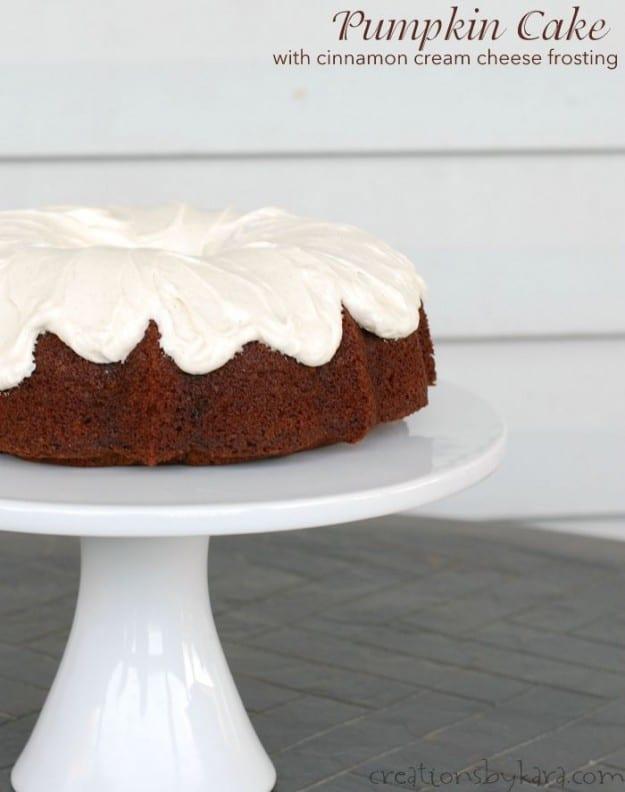 The best Pumpkin Bundt Cake ever!