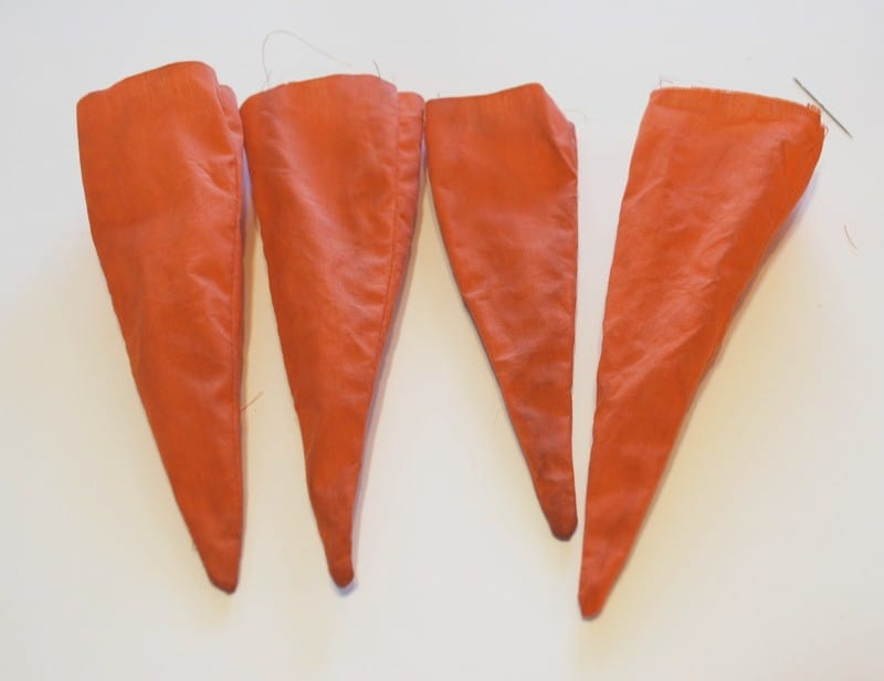 easter craft-fabric carrots