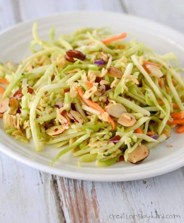 You must try this Oriental Broccoli Slaw. It is absolutely delicious! One of my favorite salad recipes ever!