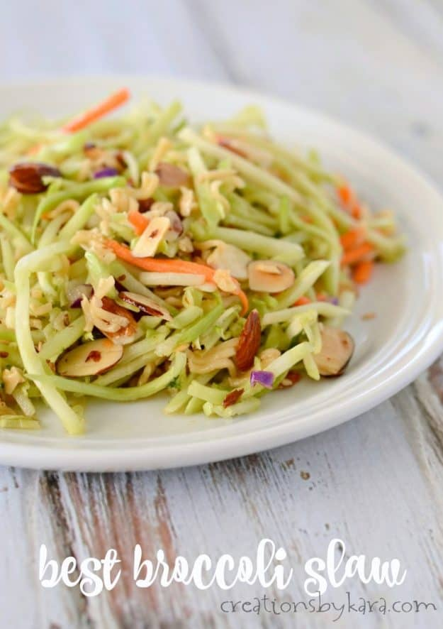 Oriental Broccoli Slaw is tasty and delicious. A perfect side dish to any meal!