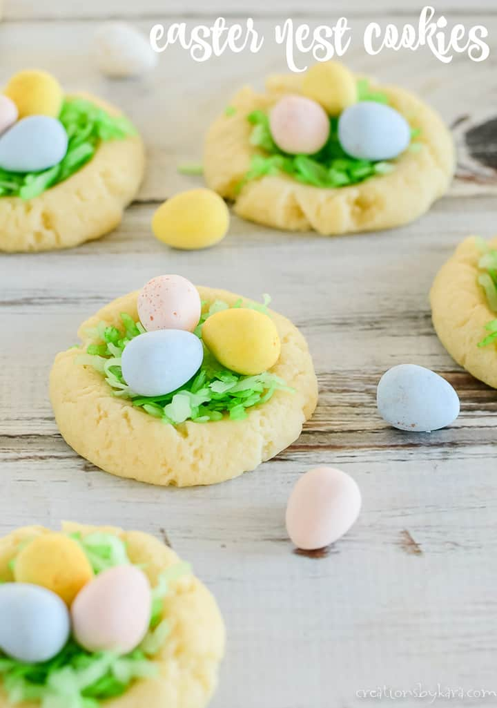nest cookies for easter title photo