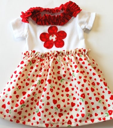 Learn how to make an adorable onesie dress with this step by step tutorial.