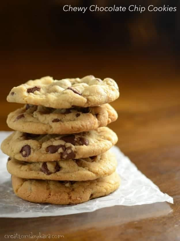 If you love chewy chocolate chip cookies, then this is the recipe for you. They are unbeatable!