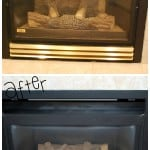 Fireplace Makeover {Spray Paint Magic}