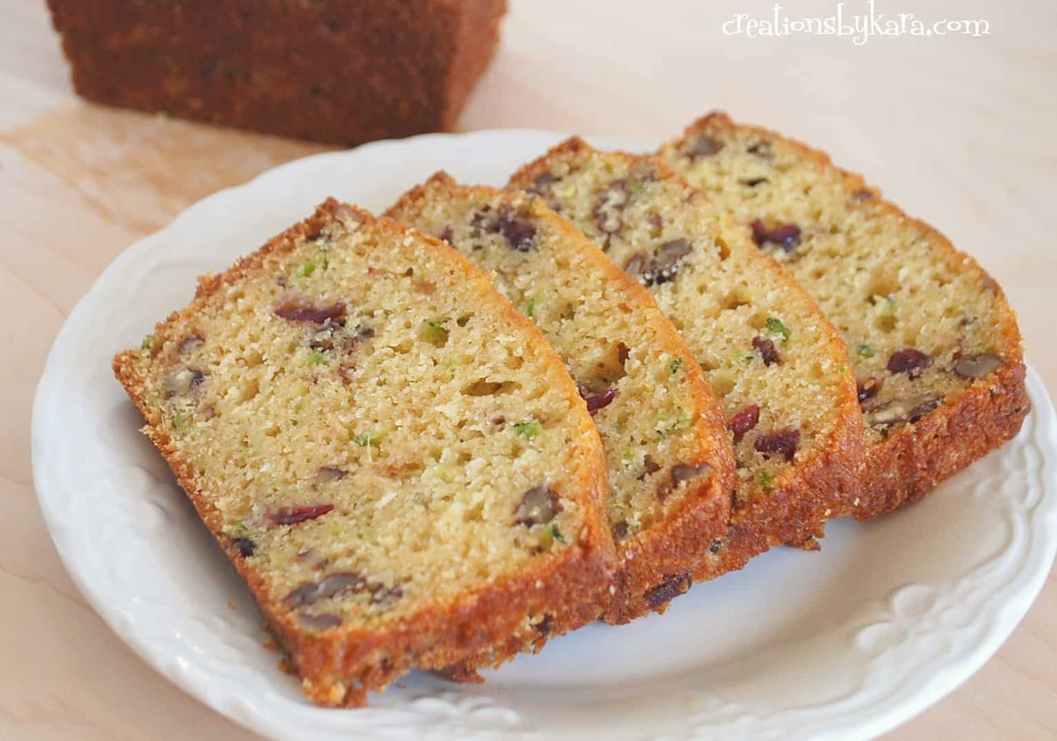 Pineapple Cranberry Zucchini Bread Recipe - Creations by Kara