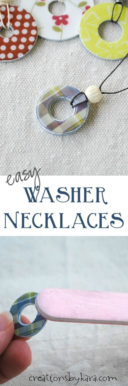 washer necklace long collage