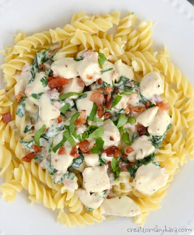 This tasty Chicken Alfredo can be whipped up in minutes. An easy and delicious pasta recipe for busy nights!