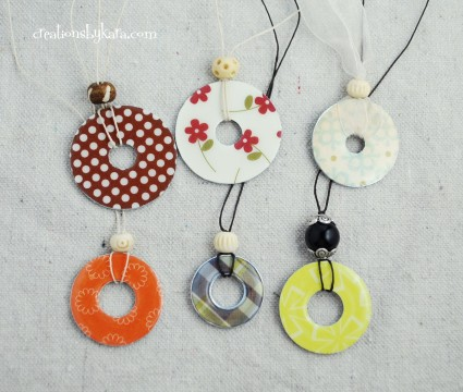 crafty jewelry: washer necklace tutorial