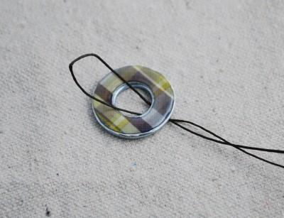 Подвеска из резиновой прокладки: красиво, просто, недорого