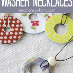 diy washer necklace pinterest collage