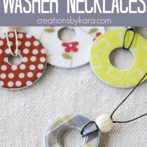 diy washer necklace pinterest collage