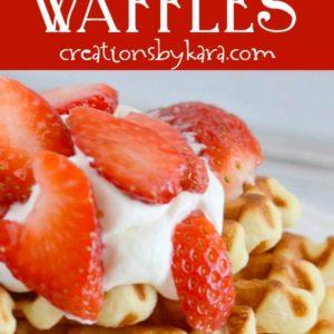 crazy delicious waffle recipe collage