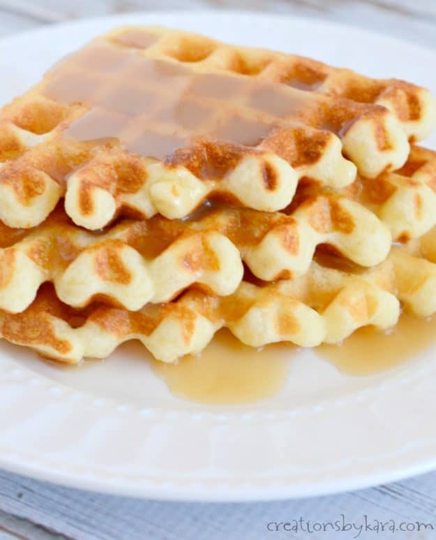Need a good waffle recipe? These waffles are crunchy on the outside, light and fluffy on the inside.