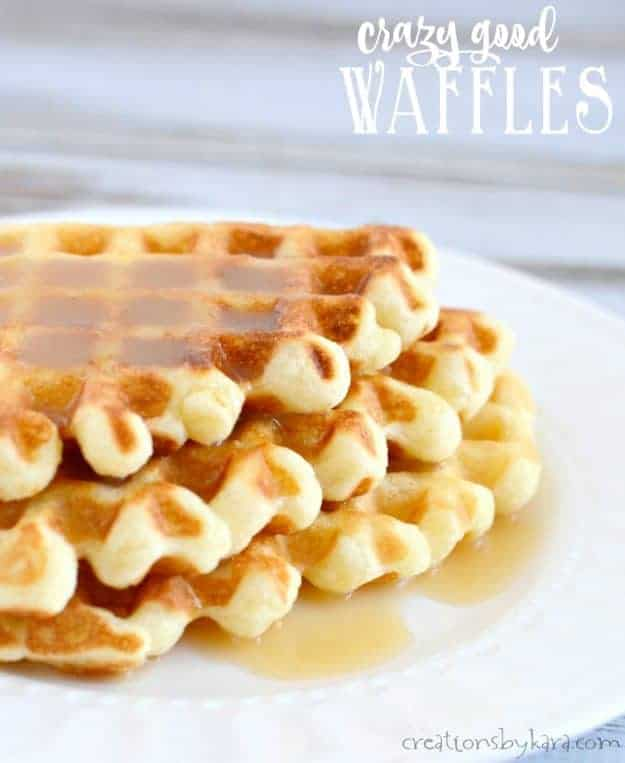 Known as waffles of insane greatness, these really are some crazy good waffles. A great waffle recipe to try!