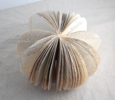 book page pumpkin without stem