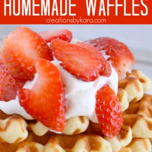crazy good homemade waffles recipe Pinterest Pin