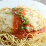 Baked Chicken Parmesan - we love this recipe for chicken parmesan just as much as the fried versions!