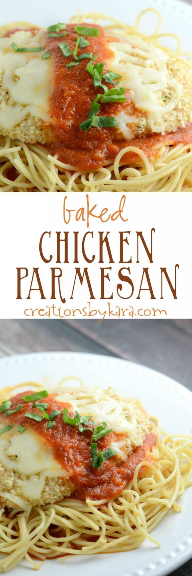 baked parmesan chicken recipe collage