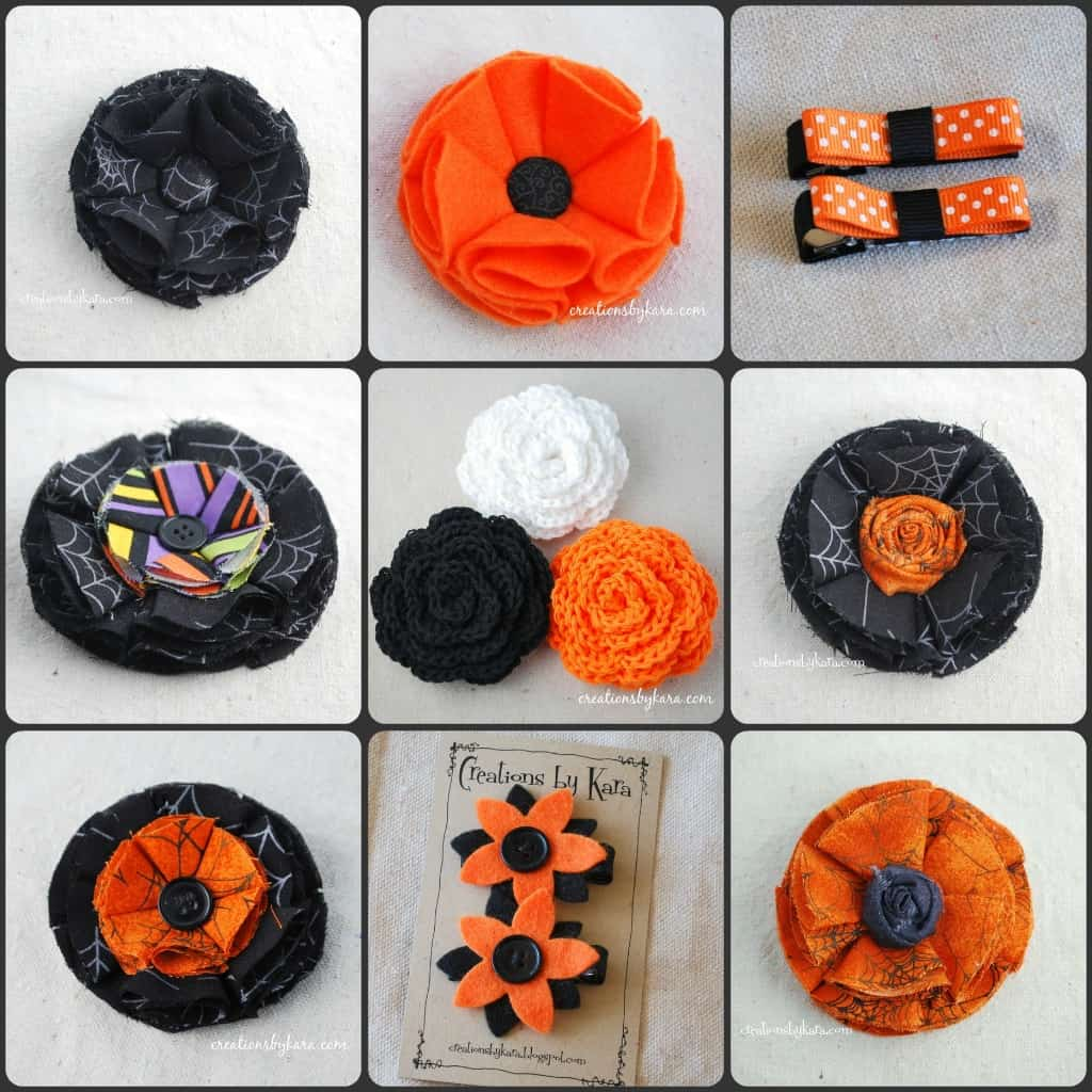 Halloween Hair Bows - Creations by Kara