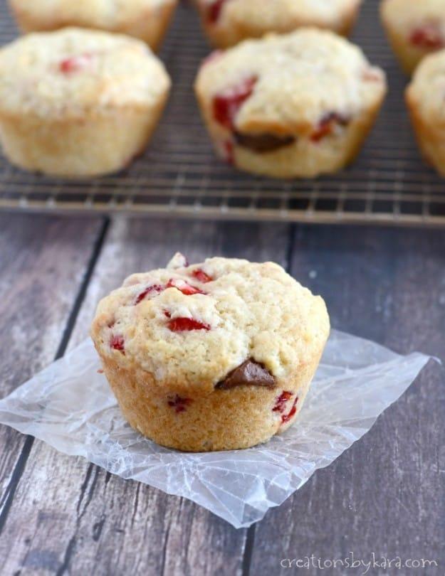Nutella Strawberry Muffin recipe