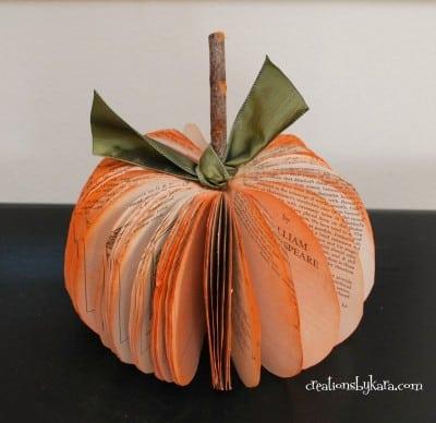 paper pumpkin, book pumpkin