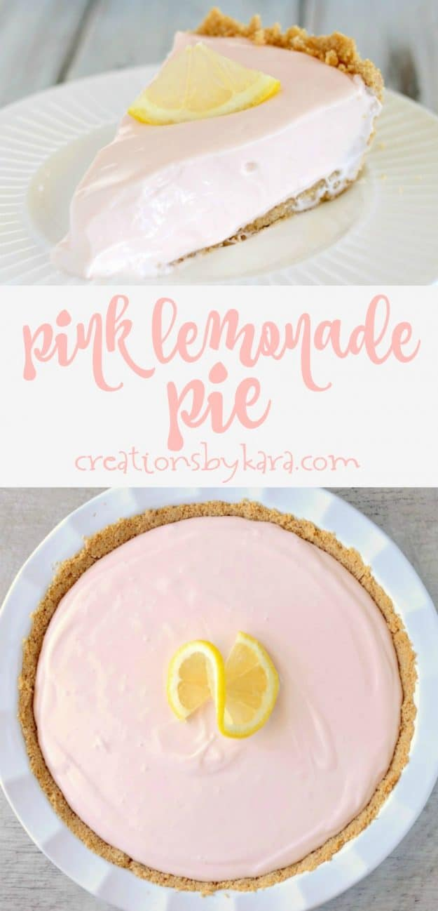 Recipe for simple Pink Lemonade Pie. So simple, so tasty. #lemonadepie #lemonpie