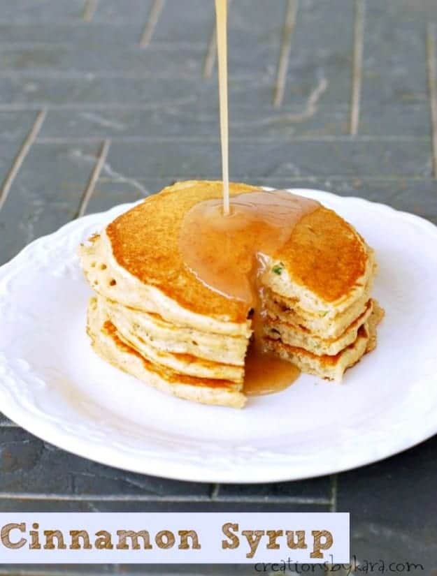 Try this Cinnamon Syrup on pancakes, waffles, or French toast!